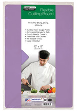 "Chop-Chop FOOD SERVICE GRADE FLEX MAT, Size 12""x18"", Pack of 1, Purple"
