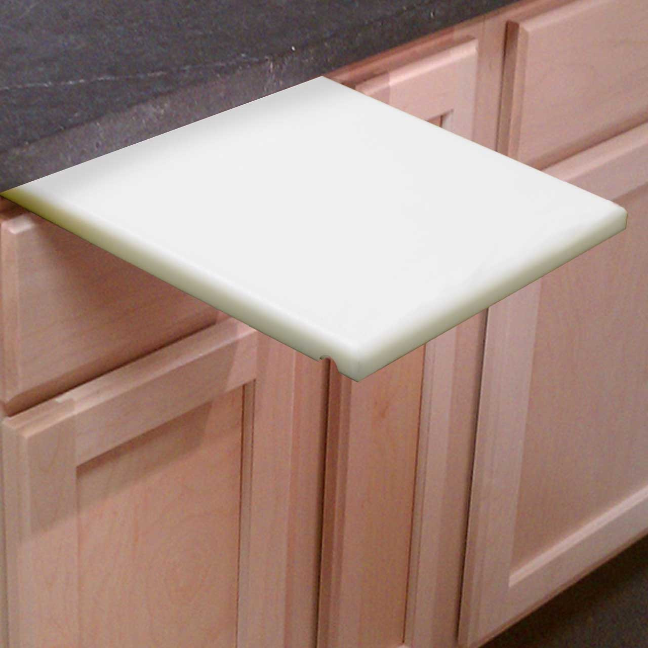 pull out white cutting board   inch thick  cutting board company, Kitchen design