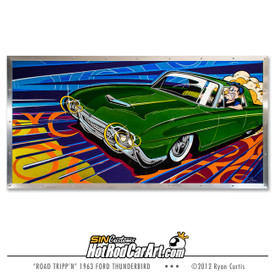 Original Painting created by SIN Customs hot rod artist Ryan Curtis - Featuring a 1962 Ford Thunderbird