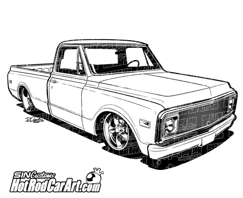 1970 chevy c10 coloring page coloring pages