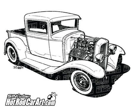 1932 Custom Ford Pickup Truck on old chevy trucks