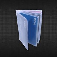 Trifold Wallet Insert for Credit Cards - 6 Pages