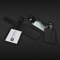 "2 1/4"" x 8"" Business Card Black Vinyl Luggage Tag Holder"