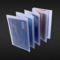Vinyl Accordion Wallet Insert - Holds Credit Cards in Trifold - 6 Pages
