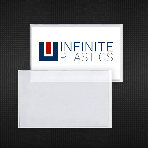 Adhesive back business card holder these clear vinyl adhesive backed sleeves are custom designed to fit a standard sized business card colourmoves