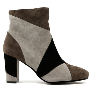 Machos Heeled Boots in Grey Multi
