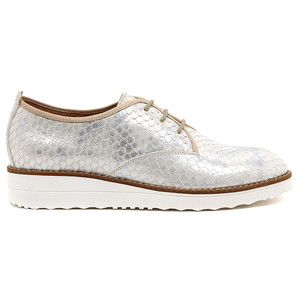 Overlys Flatform Lace Up in Silver