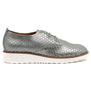 Overlys Flatform Lace Up in Pewter