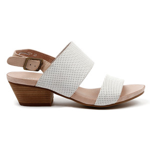 Crew Mid Heels in White/Nude