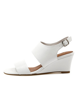 USOAP Wedge Sandals in White Leather