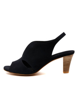 THYME Heeled Sandals in Navy Leather