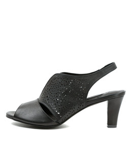 TANCE Heeled Sandals in Black Leather