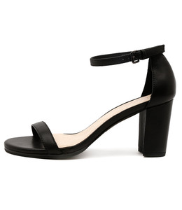 AMALFI Heeled Sandals in Black Leather