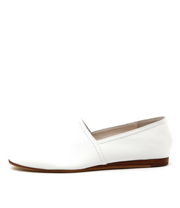 GETTY Flat Slip-on's in White Leather
