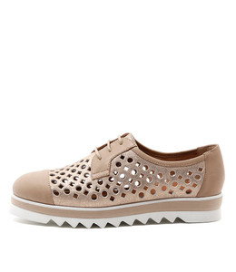 OCALIZ Lace-up Sneakers in Rose Gold Leather
