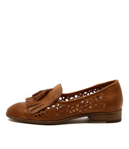 CASCADE Flat Loafers in Tan Leather
