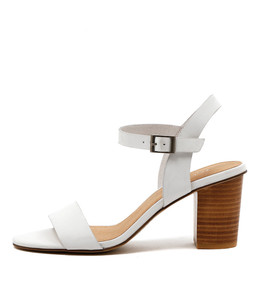 LIPPER Heeled Sandals in White Leather