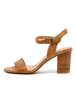 LIPPER Heeled Sandals in Tan Leather