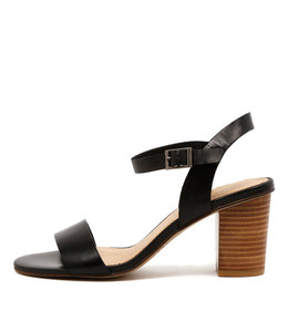 LIPPER Heeled Sandals in Black Leather