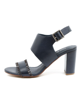 TELLER Heeled Sandals in Navy Leather