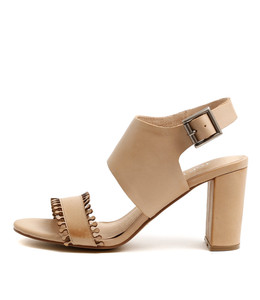 TELLER Heeled Sandals in Nude Leather