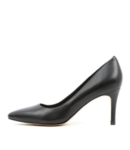 BARRIOS High Heels in Black Leather