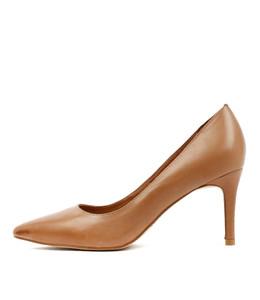 BARRIOS High Heels in Tan Leather