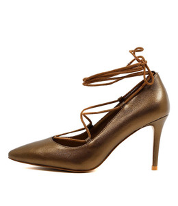 BALMY High Heels in Bronze Leather