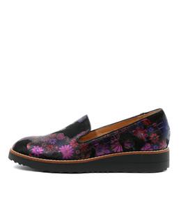 OLUSSY Flatform Loafers in Black Multi Metallic Leather