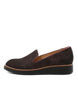 OLKA Flatform Loafers in Black Cut Leather
