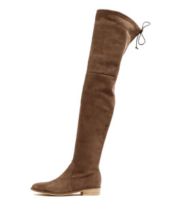LEER Over the Knee Boot in Donkey Microsuede