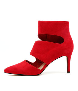 BALLAST High Heels in Red Suede