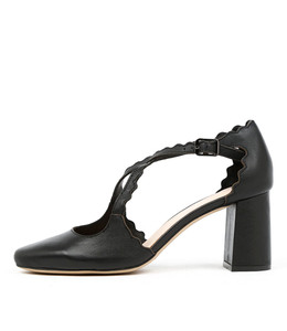 JABIR High Heels in Black Leather