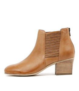 BEAUTY Ankle Boots in Dark Tan Leather