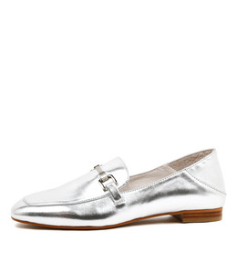 SAVORY Loafers in Silver Leather