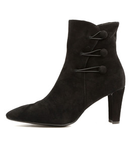 DELANS Heeled Boots in Black Suede
