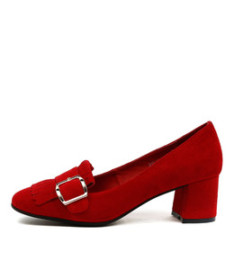 RATSO High Heels in Red Suede