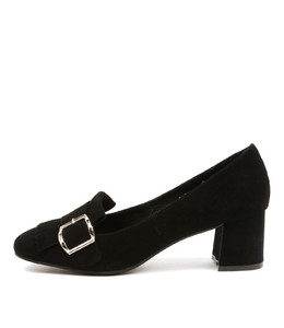 RATSO High Heels in Black Suede