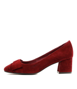 METTE High Heels in Claret Suede