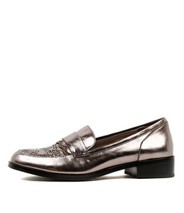 CARISMO Loafers in Pewter/ Grey Shine Leather