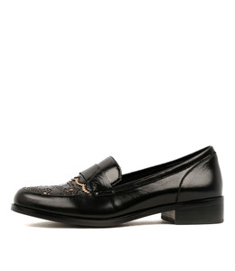 CARISMO Loafers in Black/ Nude Shine Leather