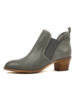 ITCHA Ankle Boots in Steel Leather