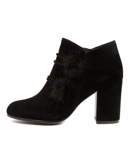 WEST Ankle Boots in Black Suede