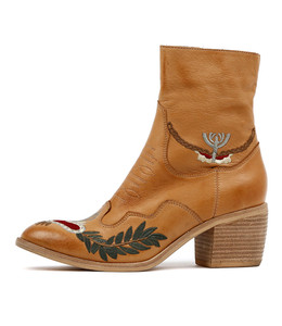 ONEIL Ankle Boots in Tan Leather