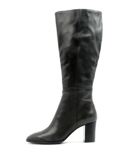 AUSTIN Knee High Boots in Black Leather