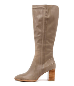 ANITA Knee High Boots in Taupe Leather