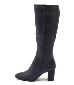 ANITA Knee High Boots in Black Leather