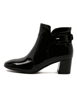 RAZZLE Ankle Boots in Black Patent Leather