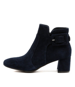 RAZZLE Ankle Boots in Navy Suede