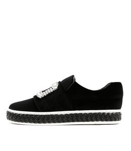 PILLAR Sneakers in Black Velvet